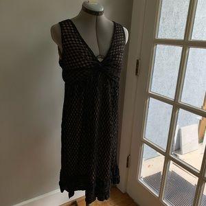 Max Studio black lace empire dress, Sz L